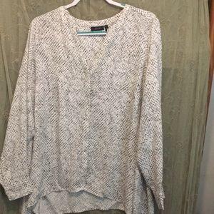 Women's long sleeve blouse 1x